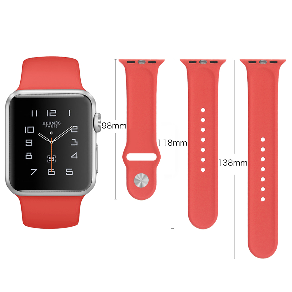 Apple Watch Band Soft Silicone Replacement Sport Strap ...