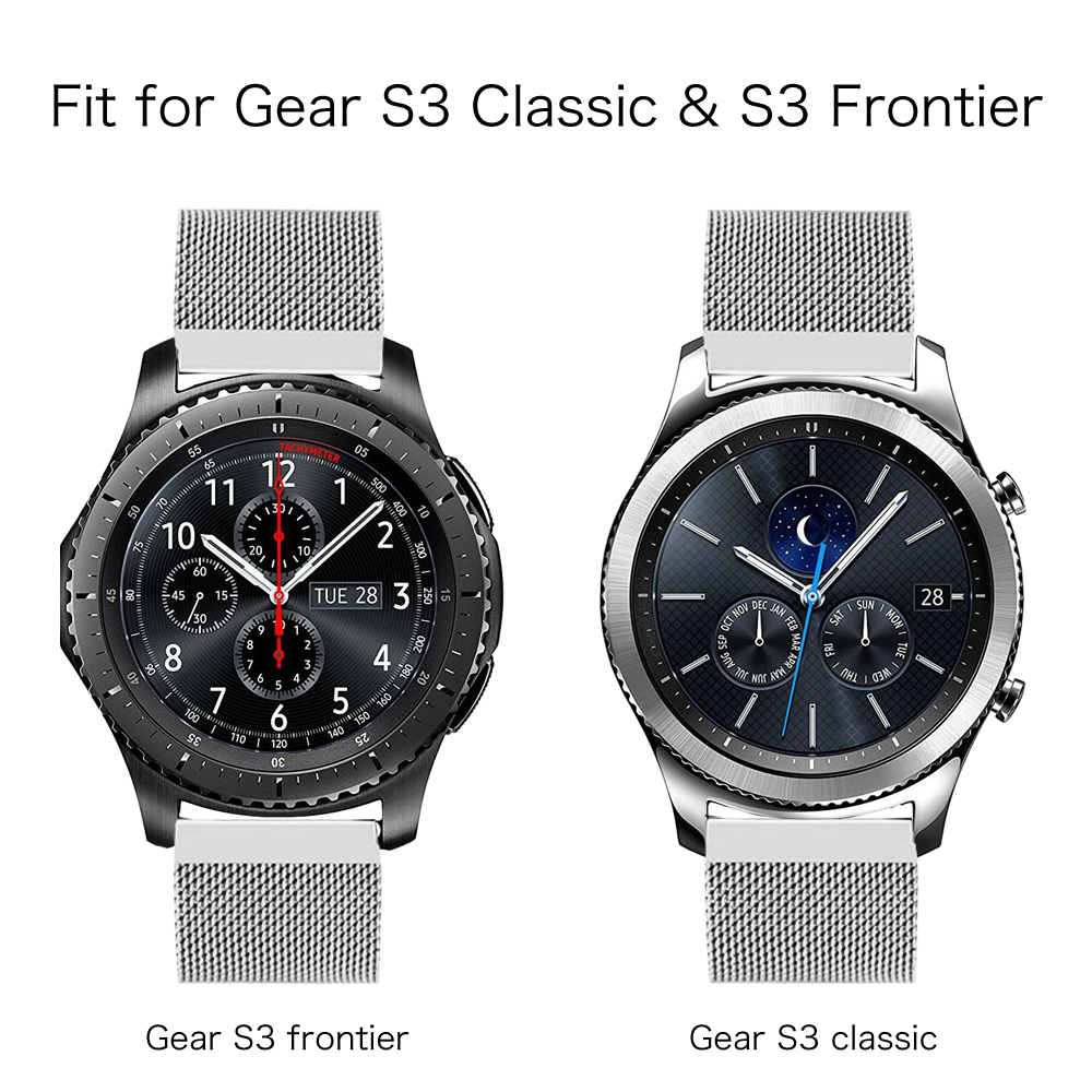 Samsung Gear S3 Classic Frontier Watch Bands Stainless Steel Strap Double Side Only Bracelet 22mm