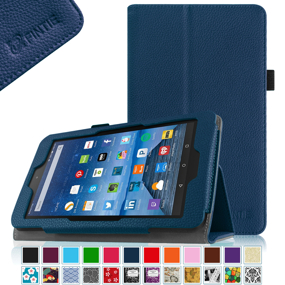 Folio premium pu leather case standing cover for amazon for Amazon casa
