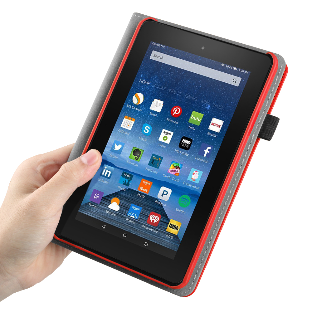 rotating case cover bluetooth wireless keyboard for 2015 amazon fire 7 tablet ebay. Black Bedroom Furniture Sets. Home Design Ideas
