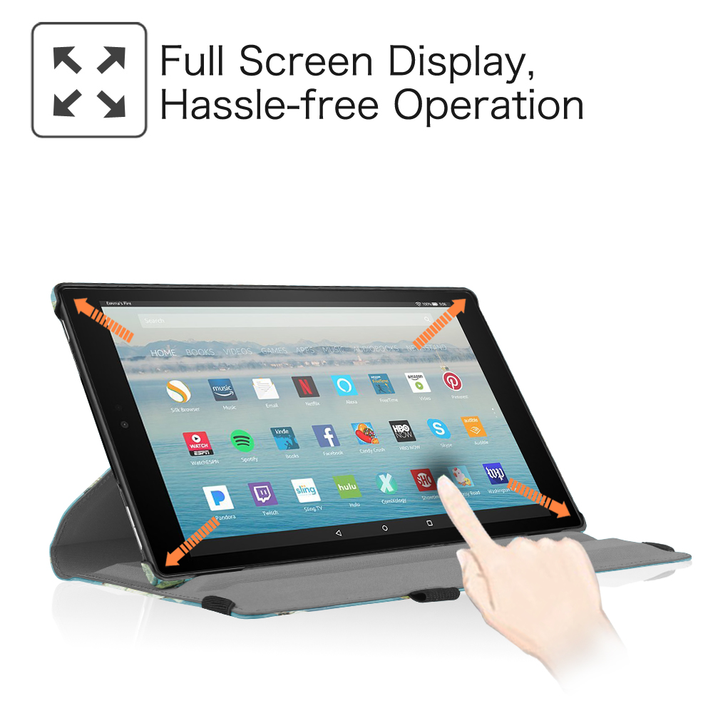 For Amazon Kindle Fire 7 Hd 8 Hd 10 360 Degree Rotating