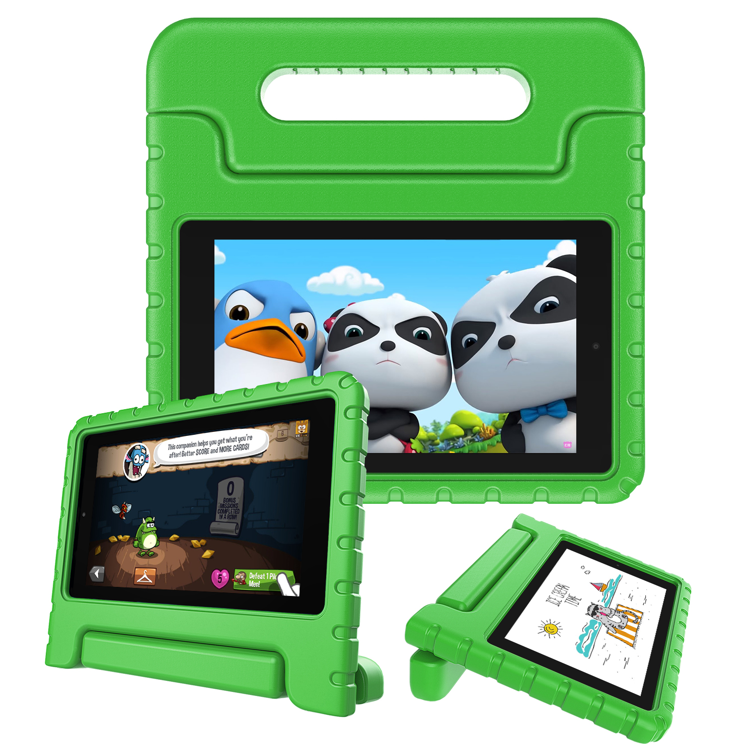 Details about For Amazon Kindle Fire 7 9th Generation 2019 ShockProof Kids  Friendly Case Cover