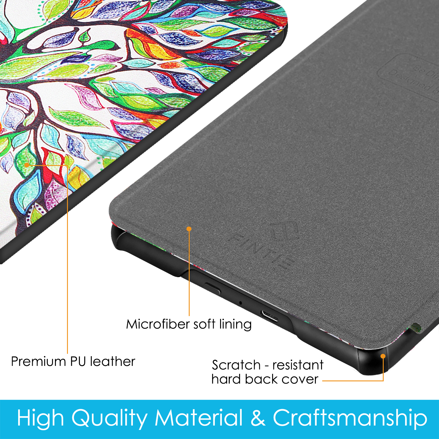 / Case for All-New Kindle 10th Gen 2019 Release -/UGOcase Slim Premium PU Leather Protective Stand Wallet Cover Case for New Kindle 2019 Orchid Will not fit Kindle Paperwhite or Kindle Oasis