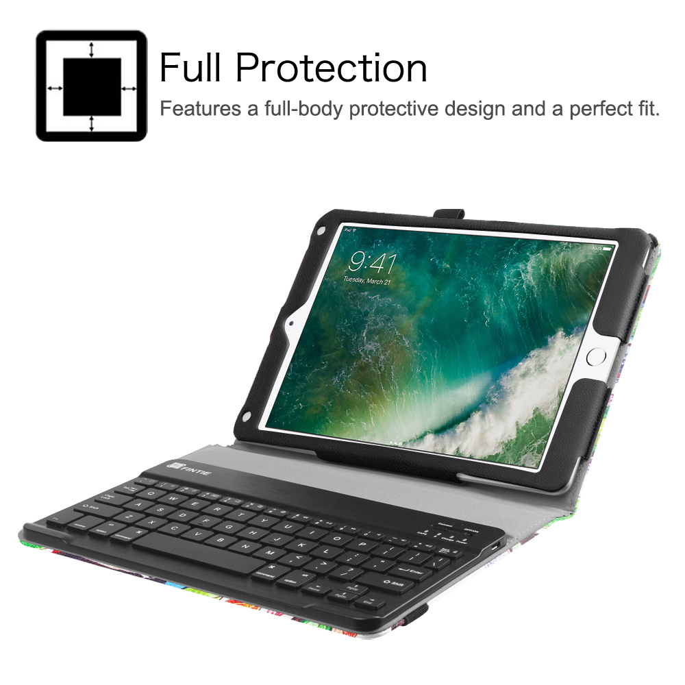 bluetooth keyboard case cover for ipad 9 7 39 39 2017 ipad. Black Bedroom Furniture Sets. Home Design Ideas