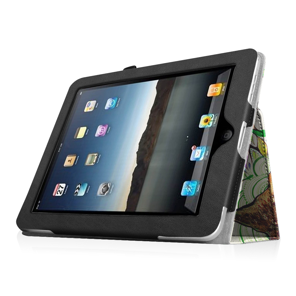 folio pu leather case stand cover for apple ipad 1 1st. Black Bedroom Furniture Sets. Home Design Ideas