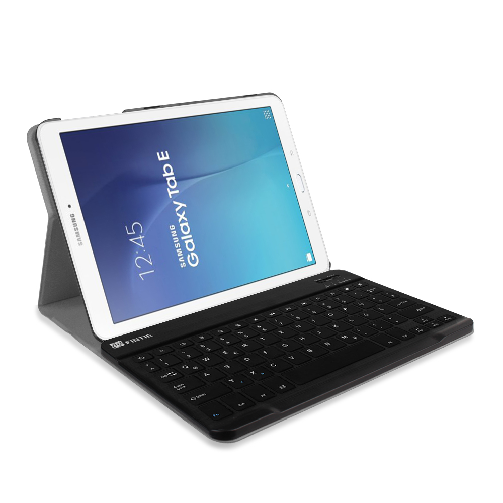 Bluetooth Keyboard For Android Samsung Tablet: Slim Removable Bluetooth Keyboard Case Cover For Samsung Galaxy Tab E 9.6 Inch