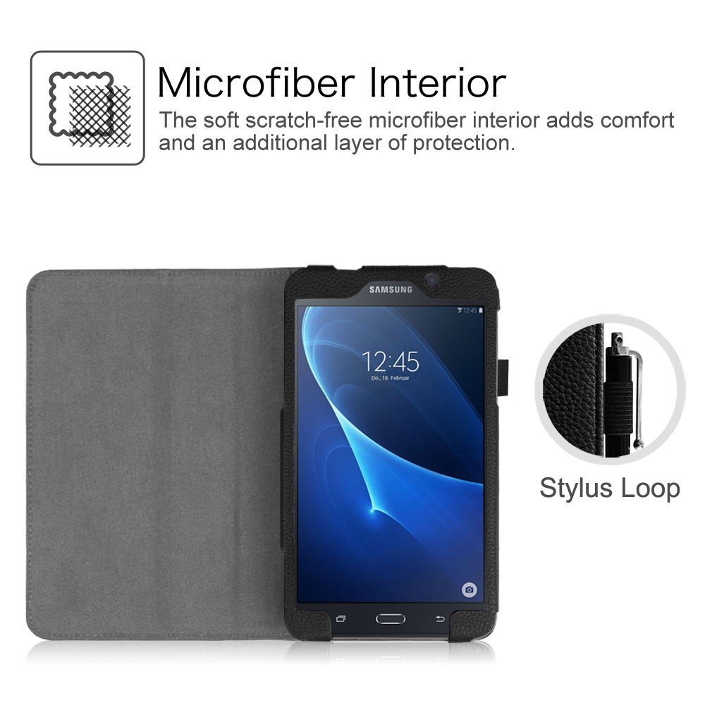 huge discount 6e81c 0a59d Details about Leather Case Cover Samsung Galaxy Tab A 7.0 7-inch Tablet  (SM-T280 / SM-T285)
