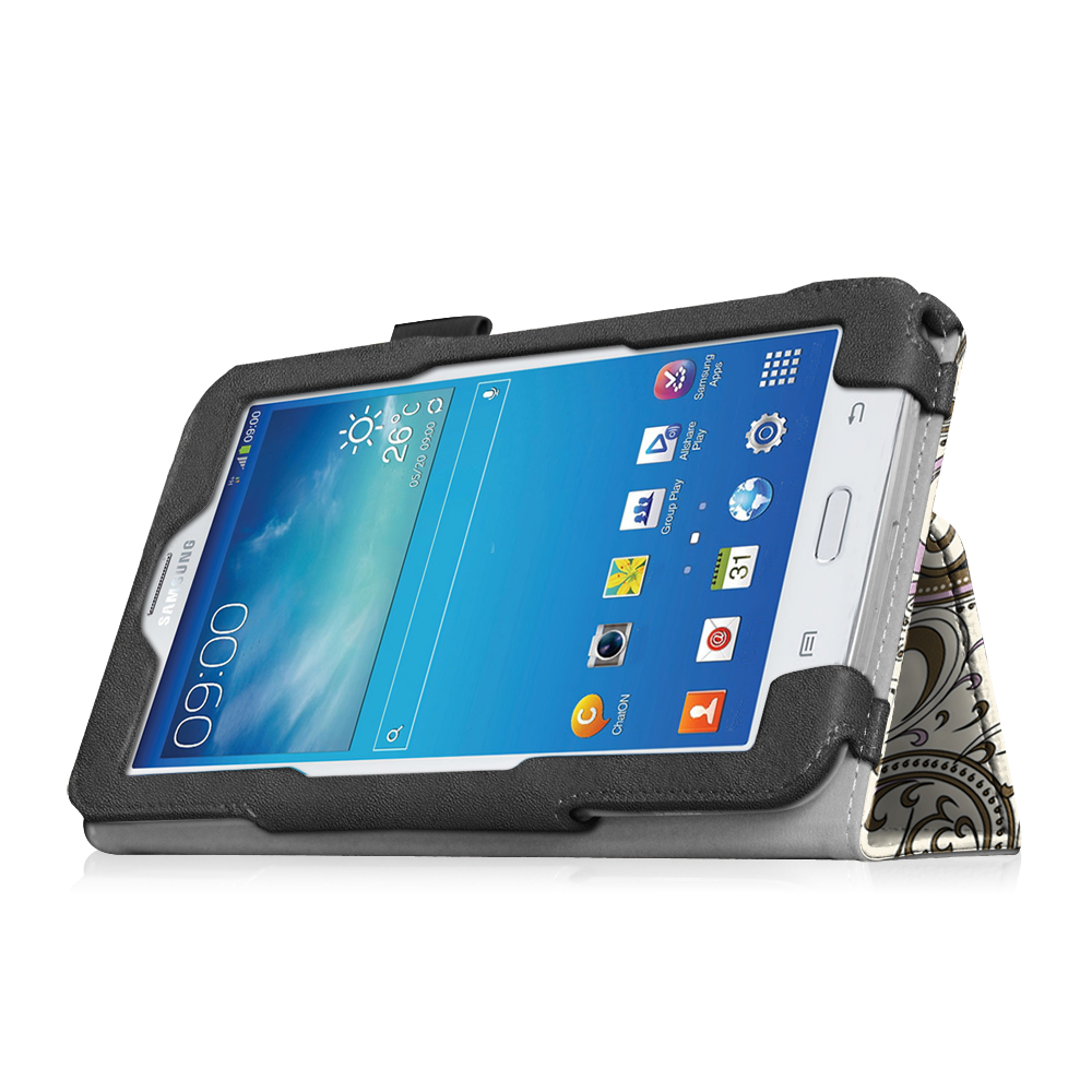 samsung galaxy tab e lite tab 3 lite 7inch tablet leather case cover card stand ebay. Black Bedroom Furniture Sets. Home Design Ideas
