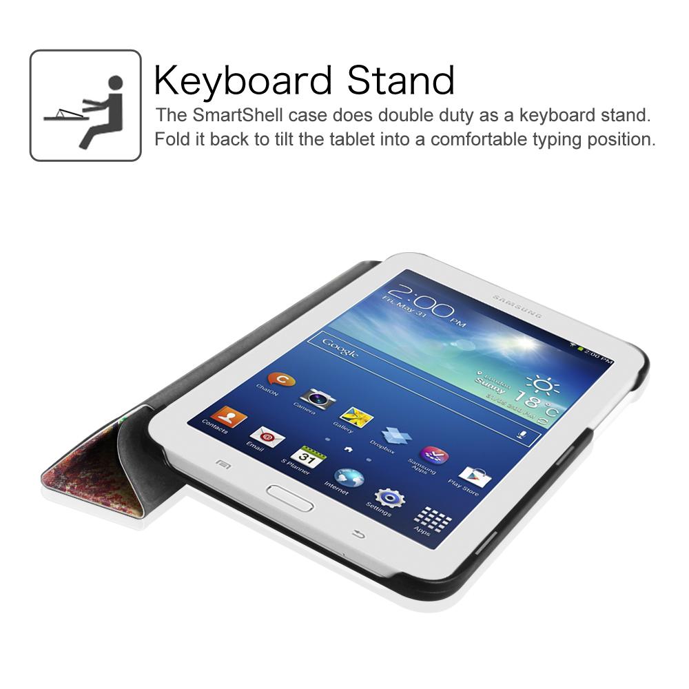 samsung galaxy tab e lite tab 3 lite 7 0 slim case smart shell stand cover ebay. Black Bedroom Furniture Sets. Home Design Ideas
