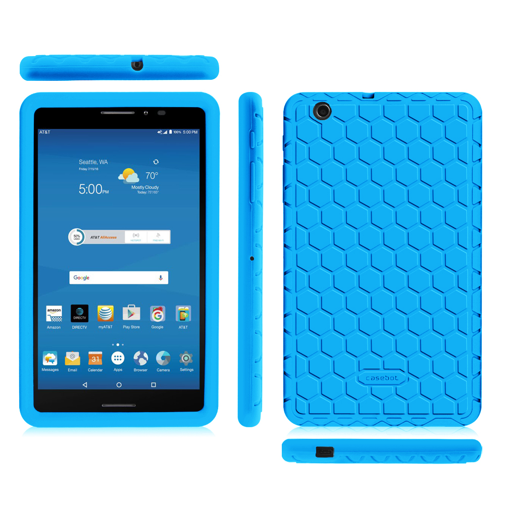 Details about Silicone Shock Proof Back Case Cover For AT&T Trek 2 HD 8  8 0-inch 4G LTE 6461A
