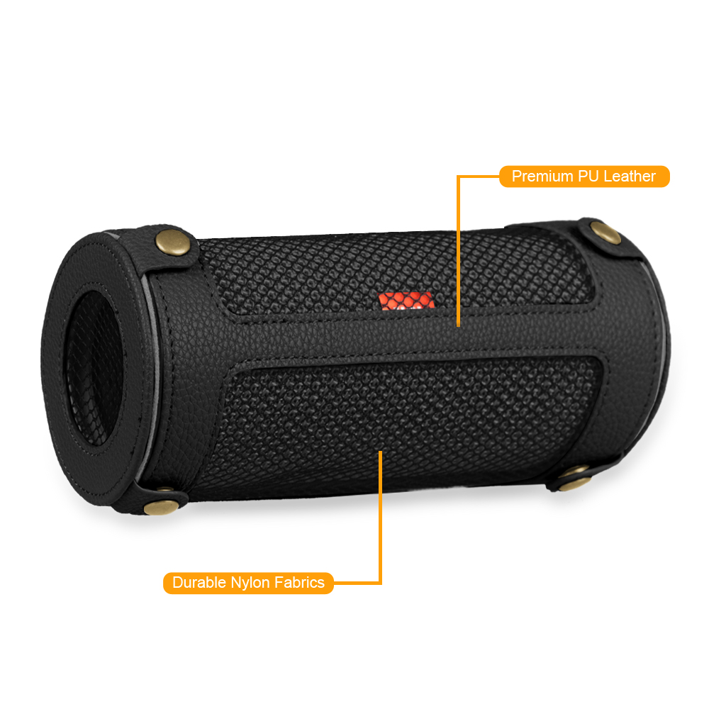 PU Leather Carrying Case For JBL Flip 3 Splashproof Portable Bluetooth Speaker